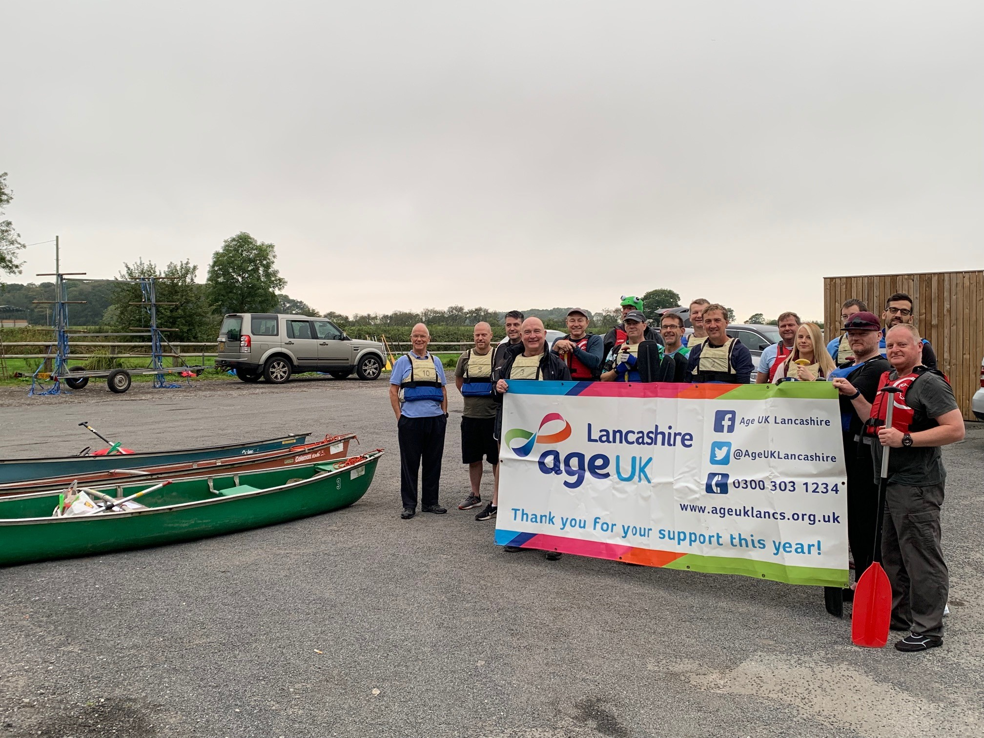 Canoeists take on 25 mile course to support older people