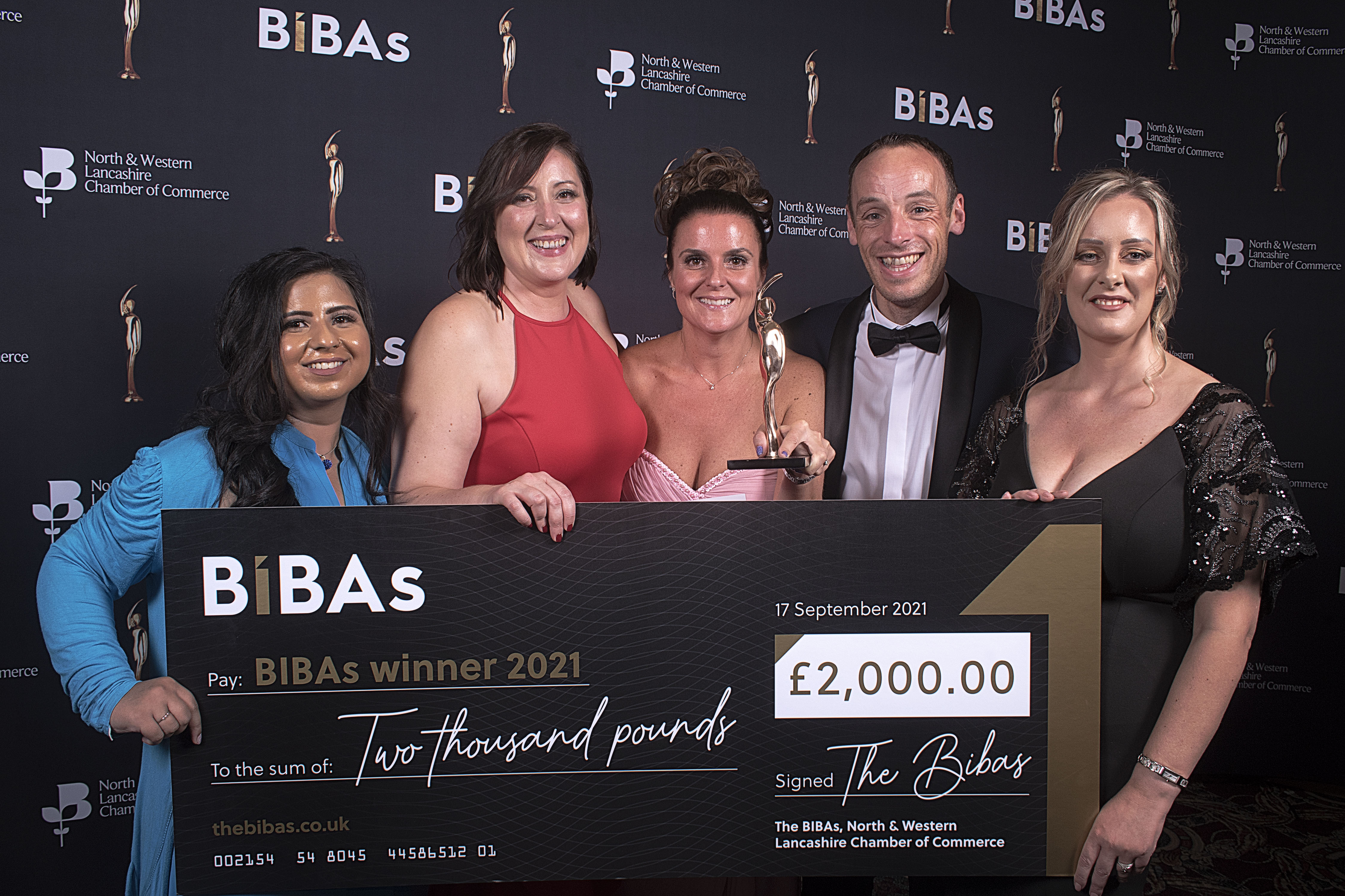 CUBE HR win Service Business of the Year at the BIBAs