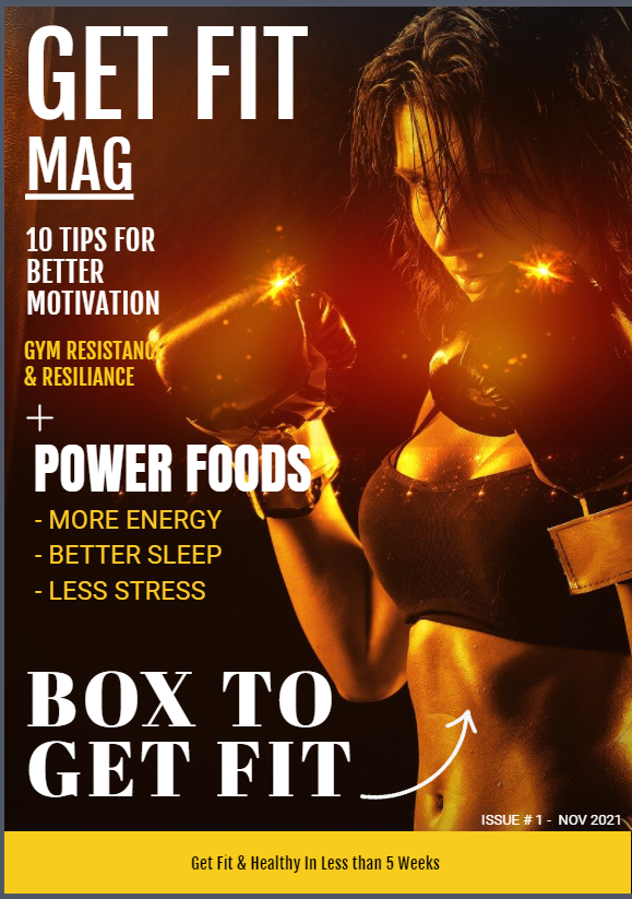"""Another Healthcare Magazine Front Page Cover Design Created by Go Ranks Ltd Team """" GET FIT MAG """" - Please Take a look and let us know your thoughts."""
