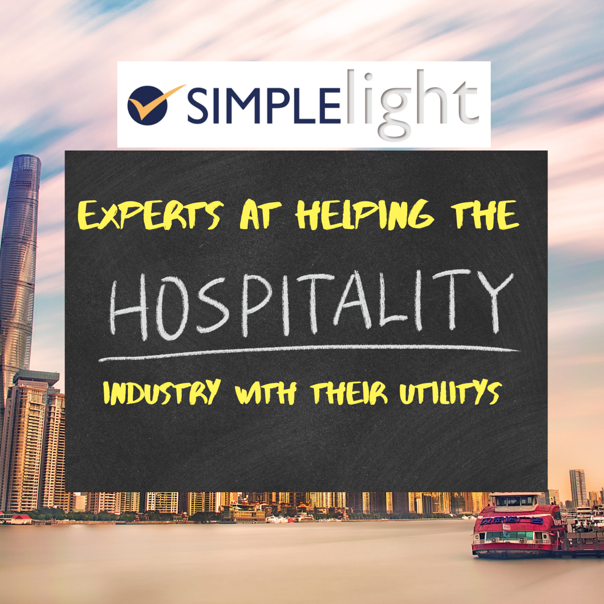 Specialist in helping the hospitality industry with there utilities