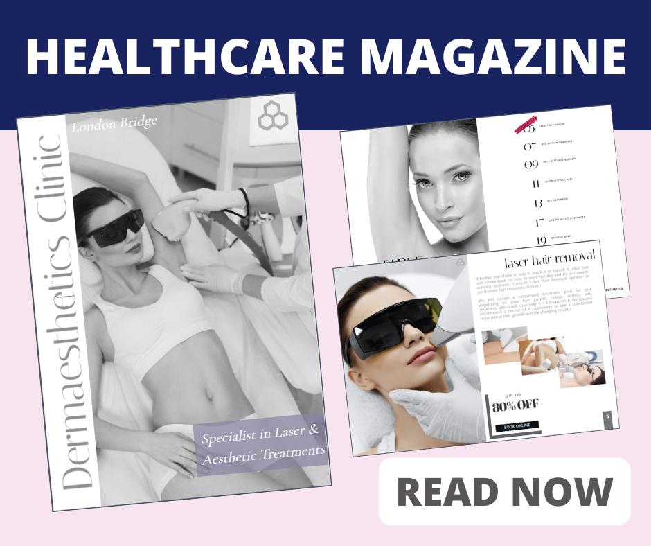 "Another Digital Healthcare Magazine Created by Go Ranks Ltd Team  ""DERMAESTHETICS CLINIC SERVICES DIGITAL MAGAZINE """