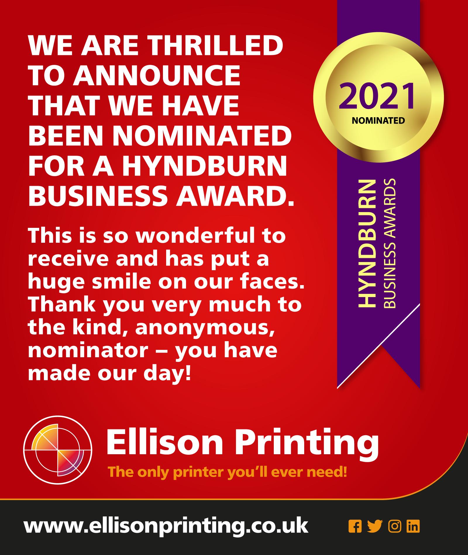 BUSINESS AWARDS NOMINATION