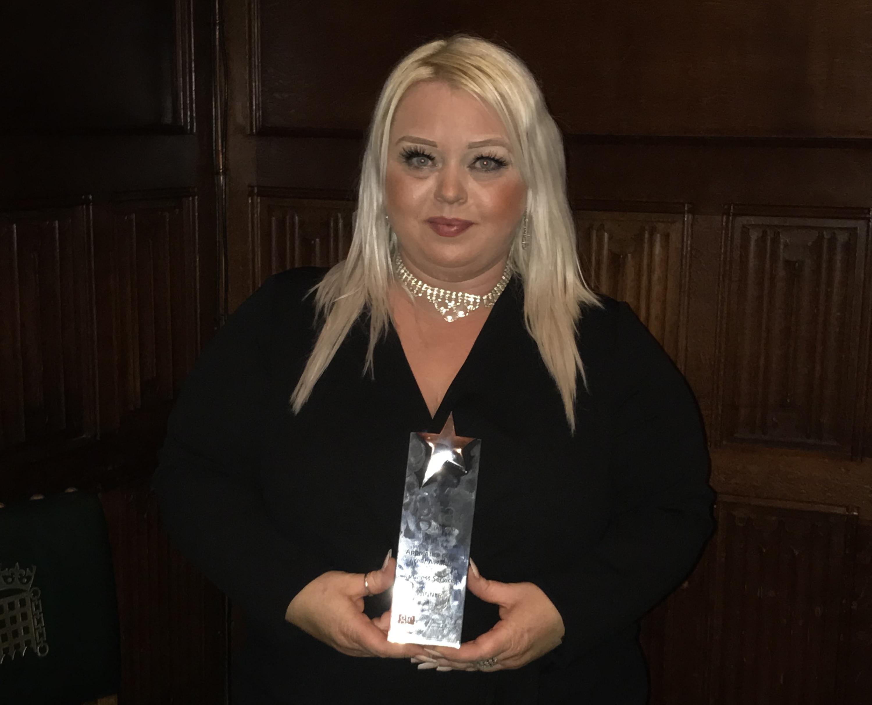 "Tina Goodram Wins ""GTA England - Apprentice of the Year"" at 2020 GTA England Apprentice Awards"