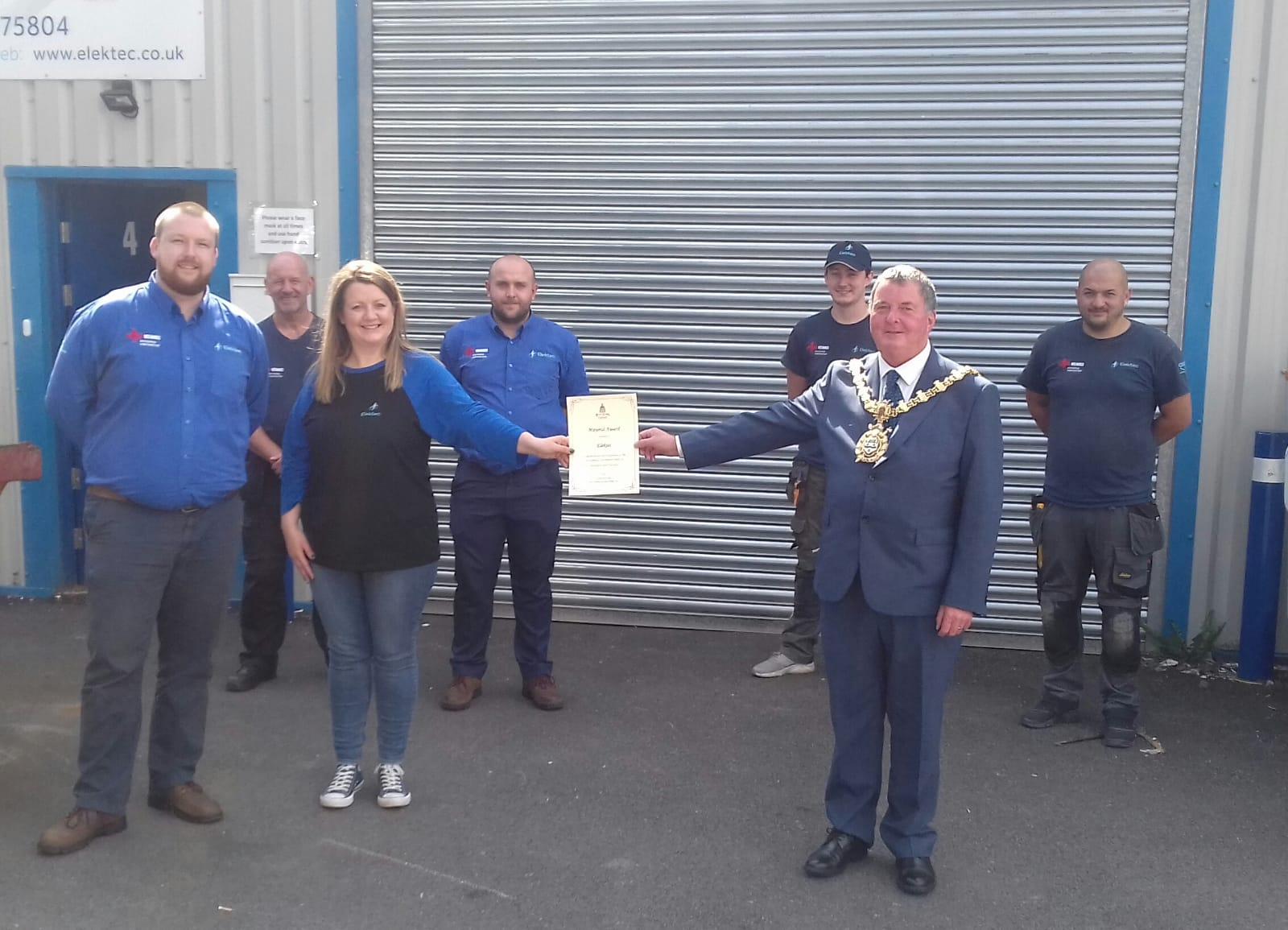 """""""Small company with hearts the size of lions"""" wins Mayoral Award"""