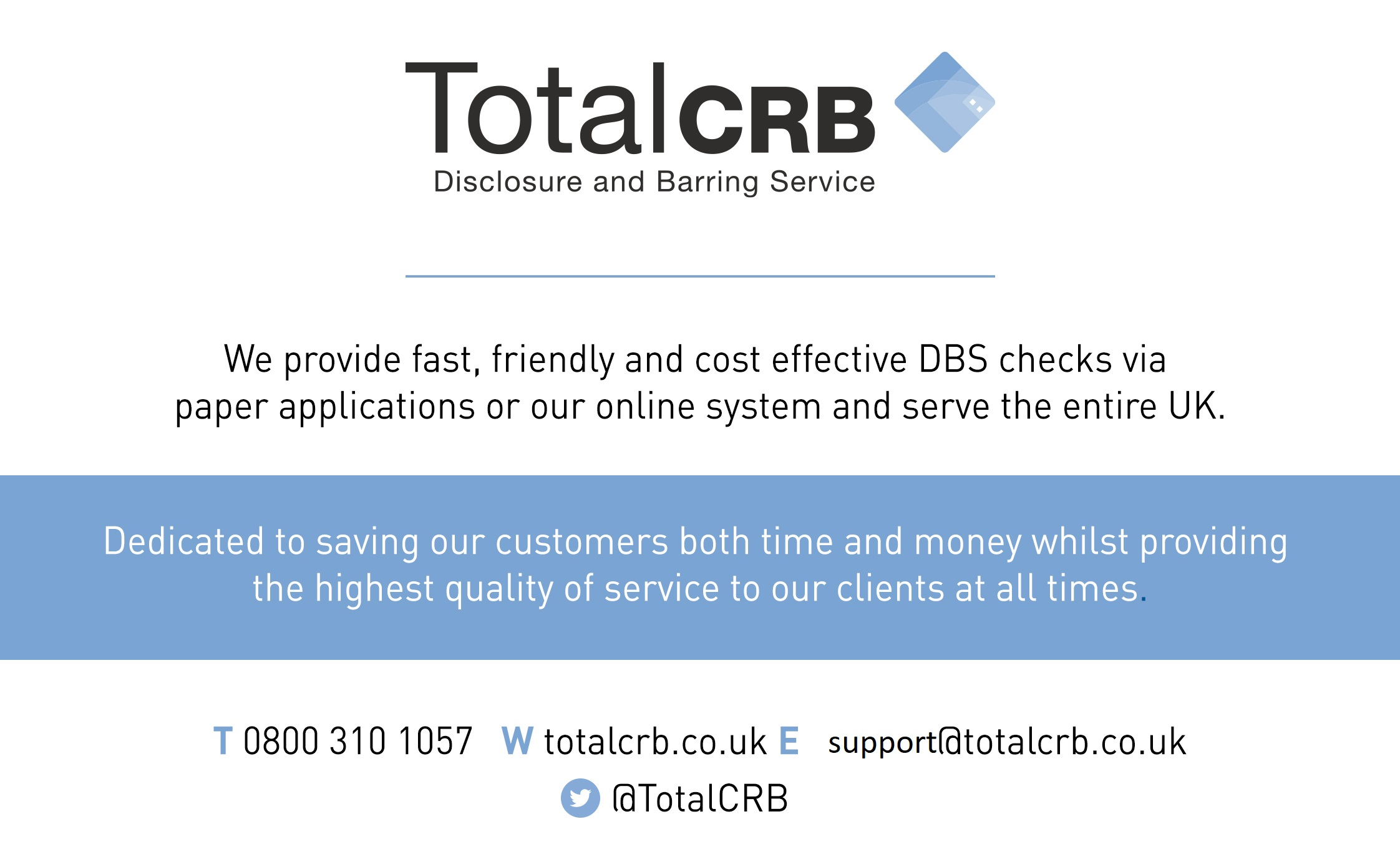 TotalCRB - We're Here To Help